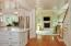 Kitchen/family room and back staircase