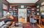 Library with door to Family Room
