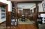 Breakfast room with original butler's pantry