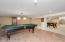 Enjoy your own Billiard Room | Family Fun in the Finished Lower Level
