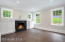 With built-ins and masonry fireplace. Wood burning and propane ready