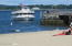 Summertime ferry to Greenwich's Island Beach