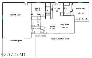 1200 sq.ft. 2 bedroom talbert main  floo