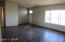 livingroom : new door, new flooring and fresh paint