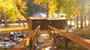 40 Frontier Cabin from Foot Bridge