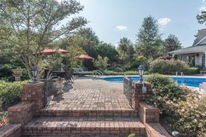 42 brick steps to pool