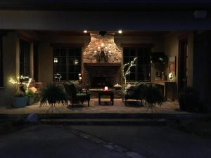 Night view of porch