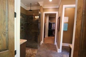 Master Bathroom entrance into closet
