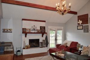 Living Room French Doors to Backyard