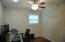 BR #2 or office. Double door closet. Ceiling fan and light kit.