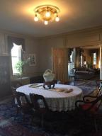 Formal dining room into living room