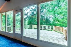 Windows overlooking Deck