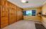 office, oak storage closets