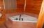Garden tub; shower.