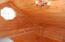 Wood floors, walls, ceiling
