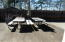 Concrete. Large private outdoor living