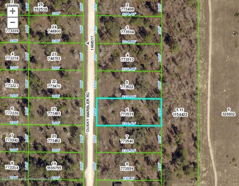 Listing Details for 0 Dusky Warbler Road, Weeki Wachee, FL 34614
