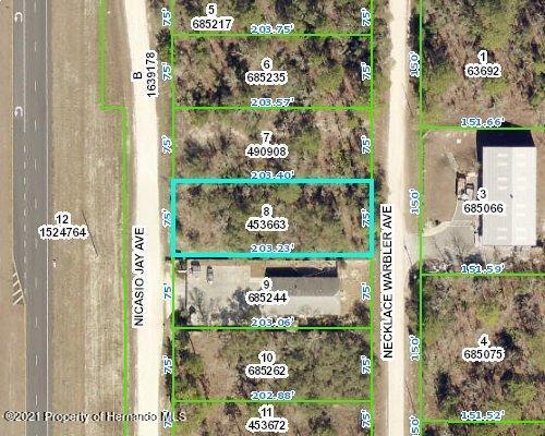 Listing Details for 0 Necklace Warbler Avenue, Weeki Wachee, FL 34614
