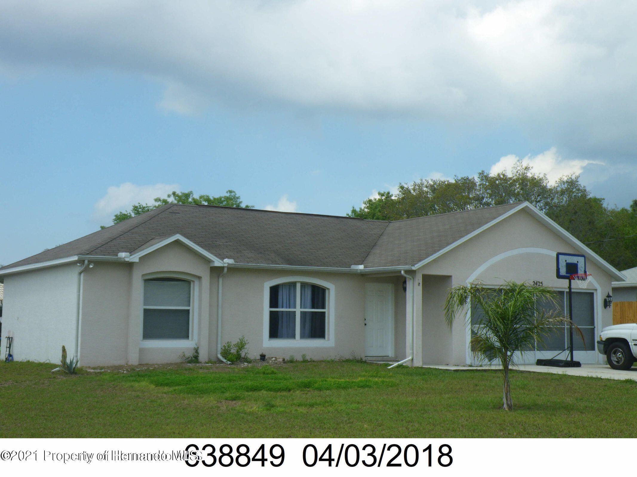 Listing Details for 2425 Hawthorne Road, Spring Hill, FL 34609
