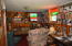 Knotty pine in this room will make you feel like you are at the cabin