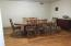Dining room with original hardwood floor