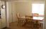 Door in dining room is a walk-in pantry
