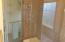 Master bath glass enclosed shower