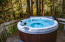 Unwind and relax in the hot tub