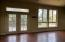 Living room with french doors to wraparound deck