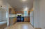 Kitchen from casual dining area
