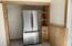 Brand New stainless refrigerator and hidden pantry