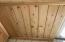 close up of wainscoting handcrafted wood wall