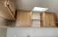 up close view of kitchen cabinetry