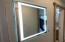 lighted hallway mirror