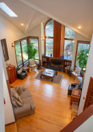 View of formal living room from the staircase