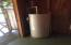 Water heater inside shed