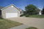 Attached heated garage w/floor drain