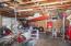 Indoor/Outdoor dog kennel in the detached Garage
