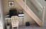 View: Office nook under open staircase