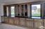 Black Stained Hickory Cabinets with Granite Counter