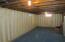 Basement, recently reinforced walls