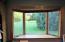 Large bay window in breakfast nook