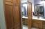 Walk in closets in master bath