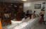 Basement Family Room. Woodburning Fireplace