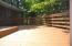 Deck opens off sunroom