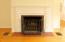 Fireplace - gorgeous hardwood floors