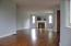 Large Living Room/Dining Area with hardwood...