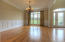 Solid Oak flooring and wainscoting.