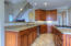 Loads of prep space with granite tops.