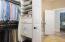 Master Closet adjacent to Laundry Room